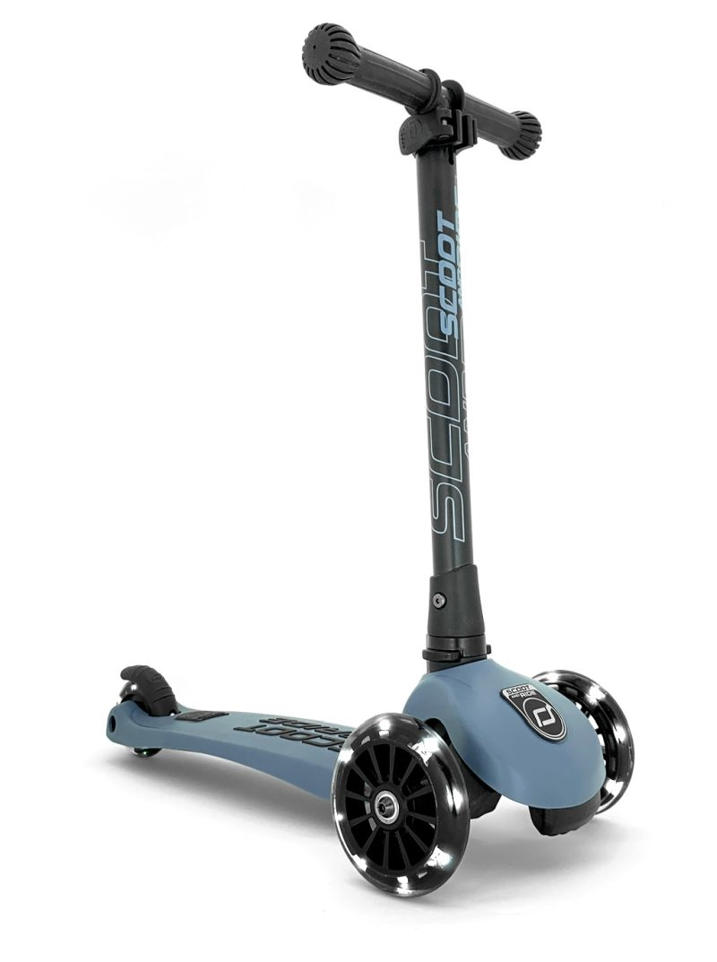 Scoot and Ride - Highwaykick 3 - Løbehjul med LED-lys, Steel