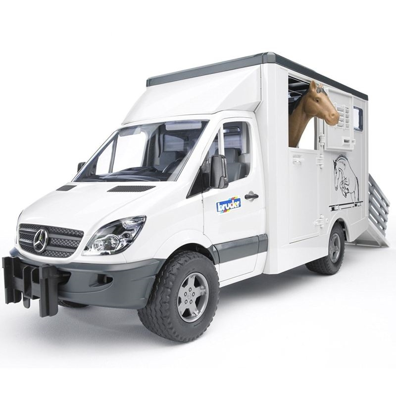 Bruder - Mercedes Benz Sprinter dyretransport incl. 1 hest