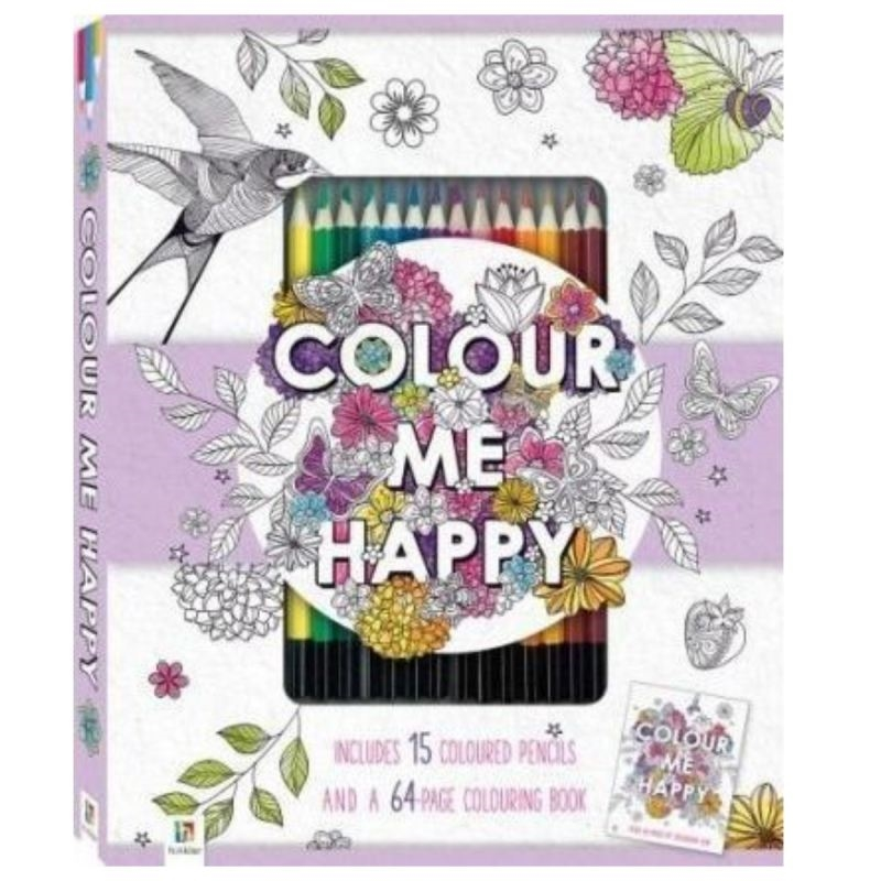 Malebog - Color me happy med med 15 farveblyanter