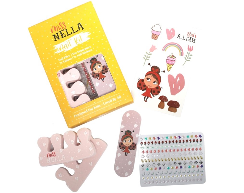Miss Nella - Accessories Kit - Klistermærker til neglene, tatoveringer, tåspreder m.m.