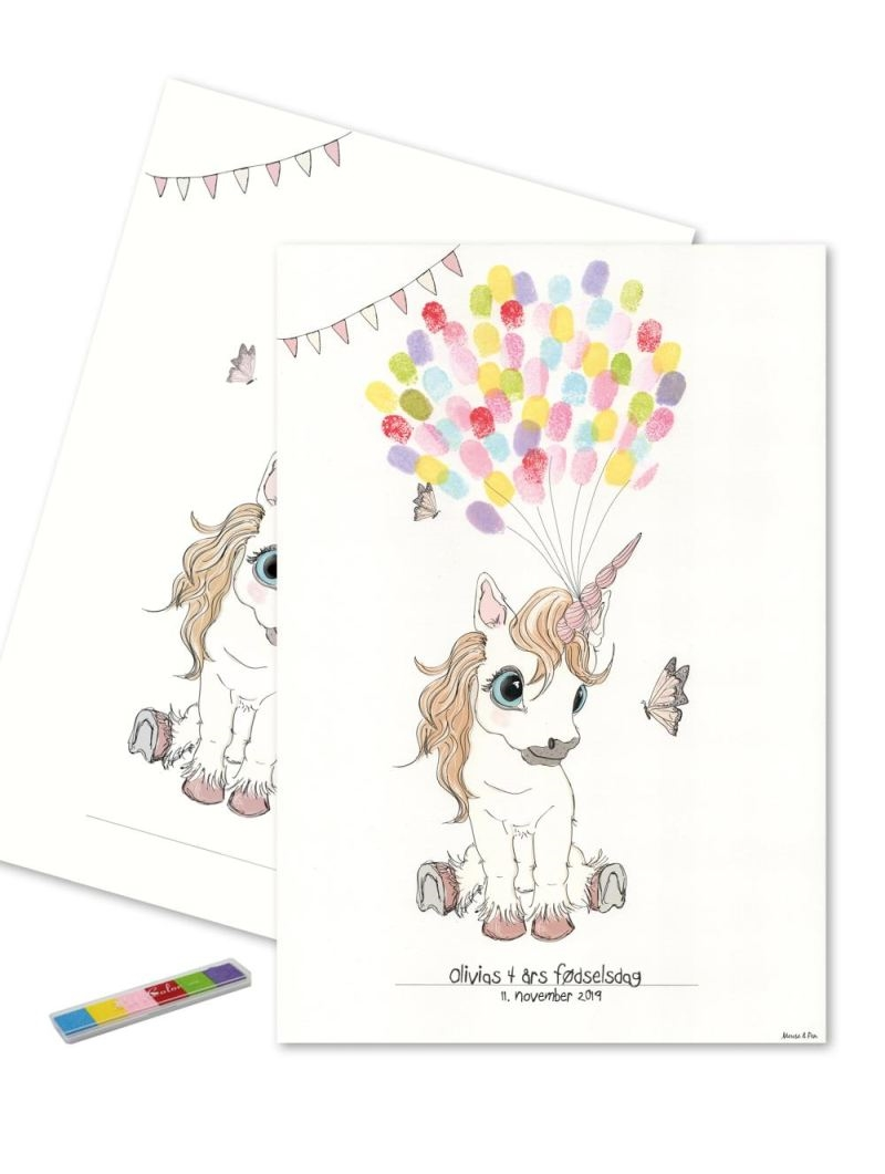Mouse & Pen - Baby Fingerprint - Unicorn - Multi