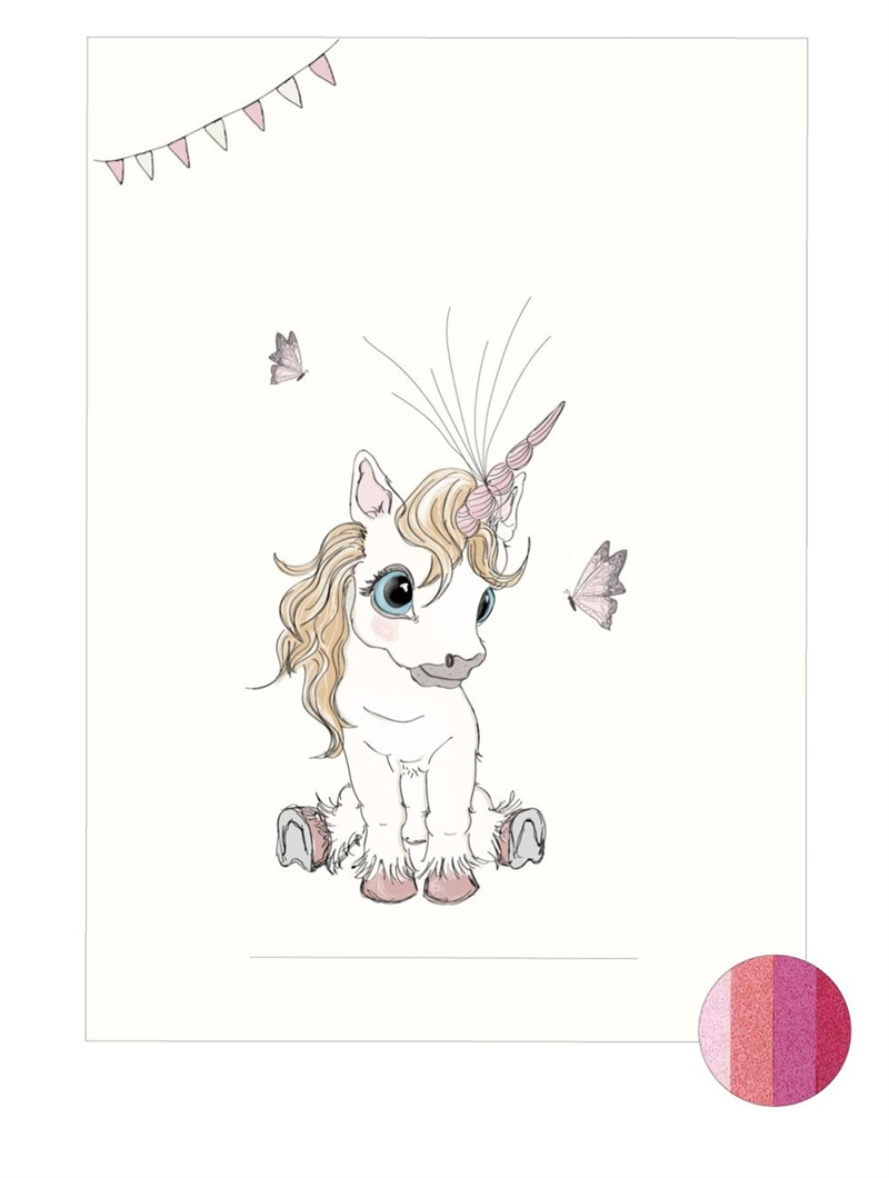 Mouse & Pen - Baby Fingerprint - Unicorn - Pink