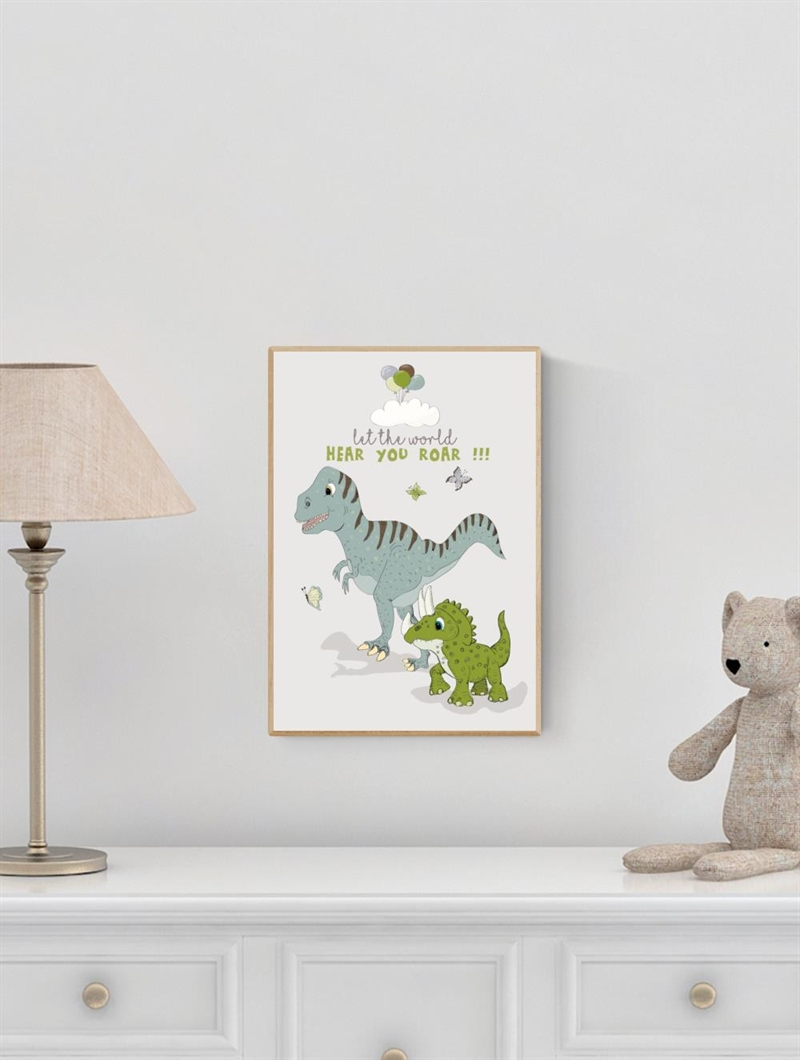 Mouse & Pen Plakat A4 - Dino - Let the world hear you roar!