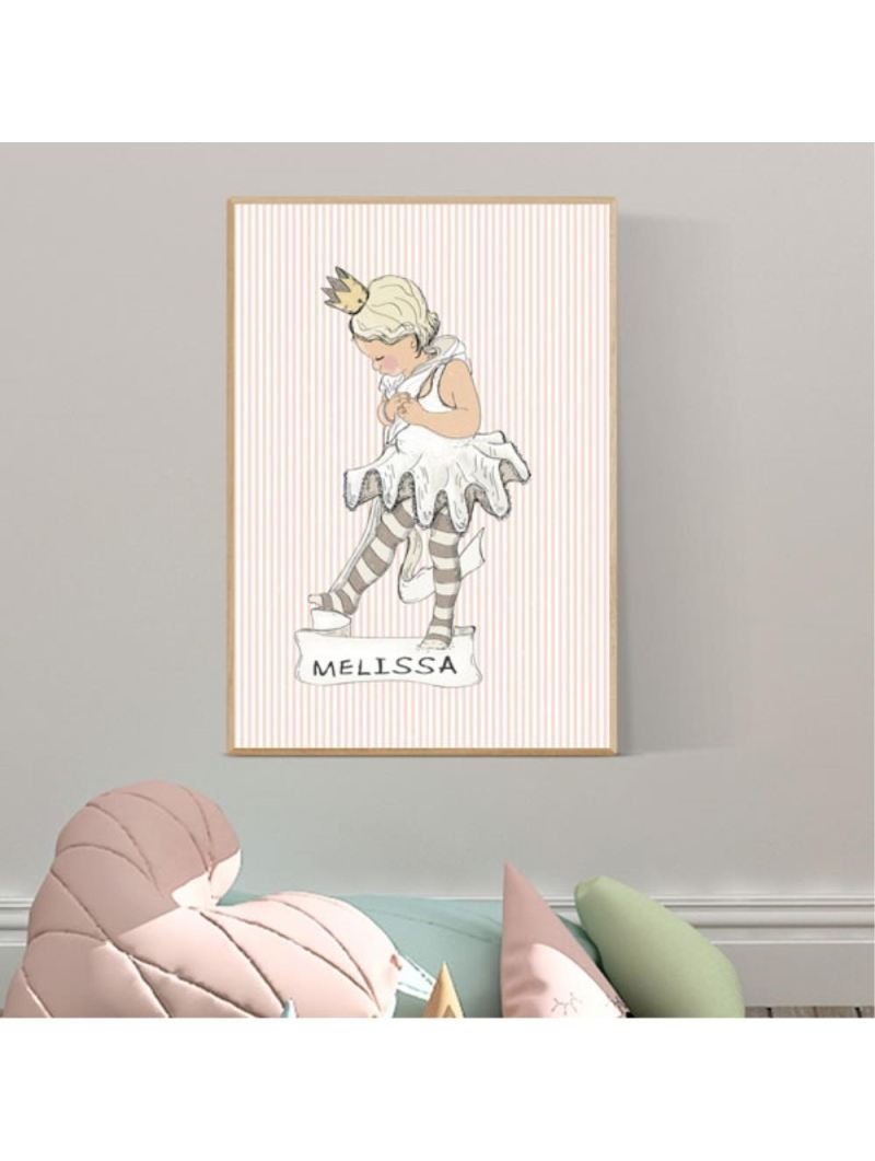 Mouse & Pen Plakat A4  - Little Ballet Girl