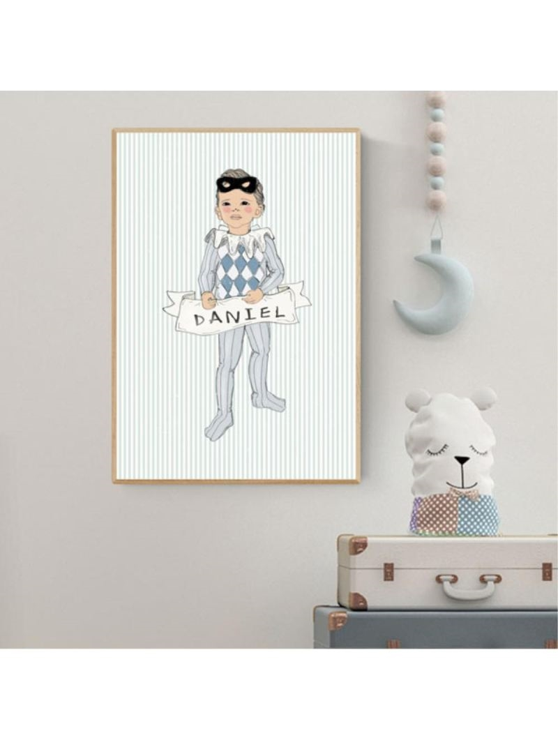 Mouse & Pen Plakat A4  - Little Harlekin Boy