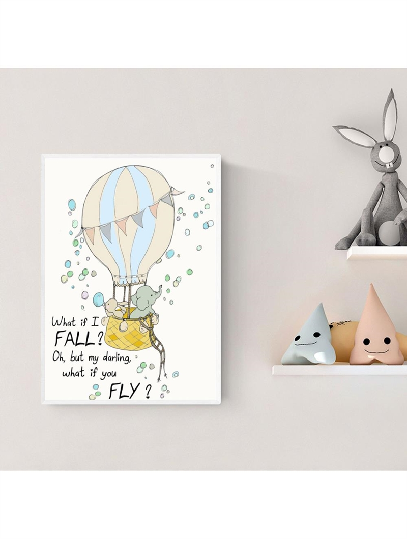 Mouse & Pen Plakat A4 - What if I fall - oh my darling what if you fly?