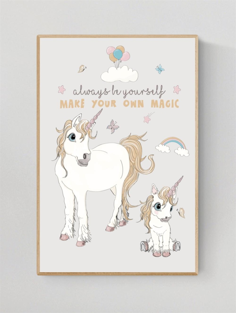 Mouse & Pen Plakat A4 - Unicorn - Always be yourself