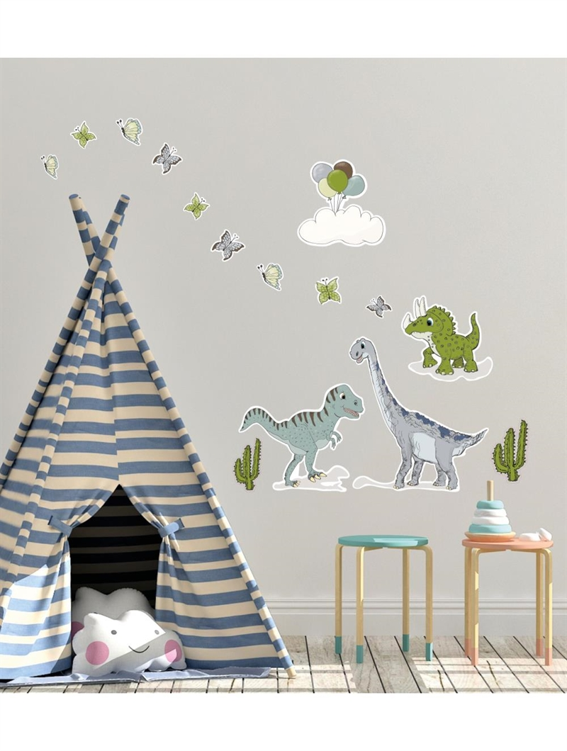 Mouse & Pen Wallstickers - Dinosauers