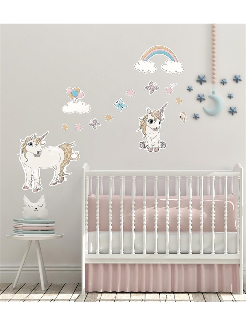 Mouse & Pen Wallstickers - Unicorn