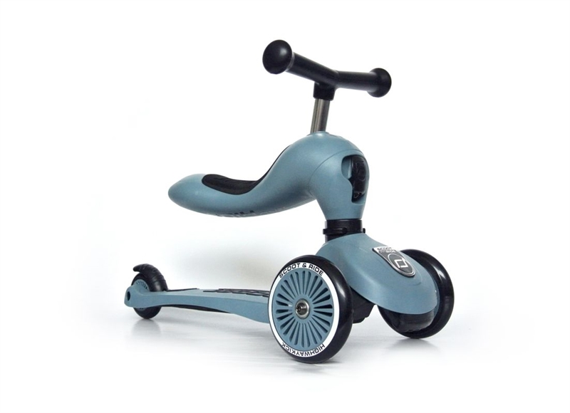 Scoot and Ride - Highwaykick 1 - Steel - 2-i-1 scooter og løbehjul