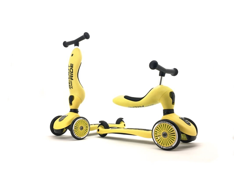 Scoot and Ride - Highwaykick 1 Icecream - Lemon - 2-i-1 scooter og løbehjul