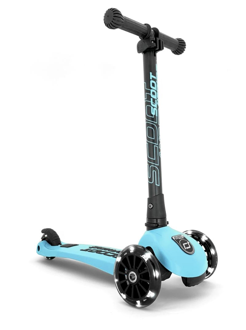 Scoot and Ride - Highwaykick 3 Ice cream- Løbehjul med LED-lys, Blueberry