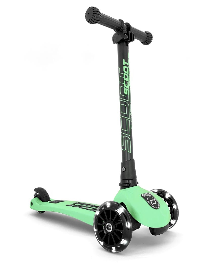 Scoot and Ride - Highwaykick 3 Ice cream- Løbehjul med LED-lys, Kiwi