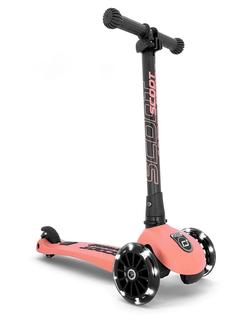 Scoot and Ride - Highwaykick 3 Ice cream- Løbehjul med LED-lys, Peach