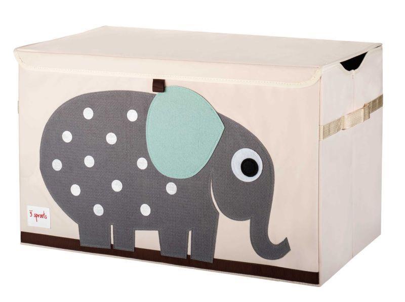 Modernistisk 3 Sprouts Opbevaringskasse med låg-Elefant.Til legetøj ZA19