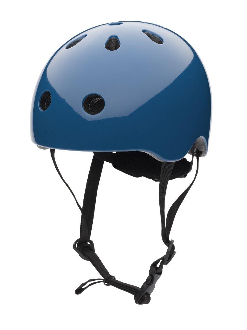 Velsete CoConout Børne Retrocykelhjelm-Petrolblå.Justerbar Cykelhjelm QW-98